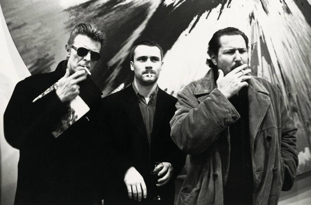 David Bowie, Damien Hirst, Julian Schnabel