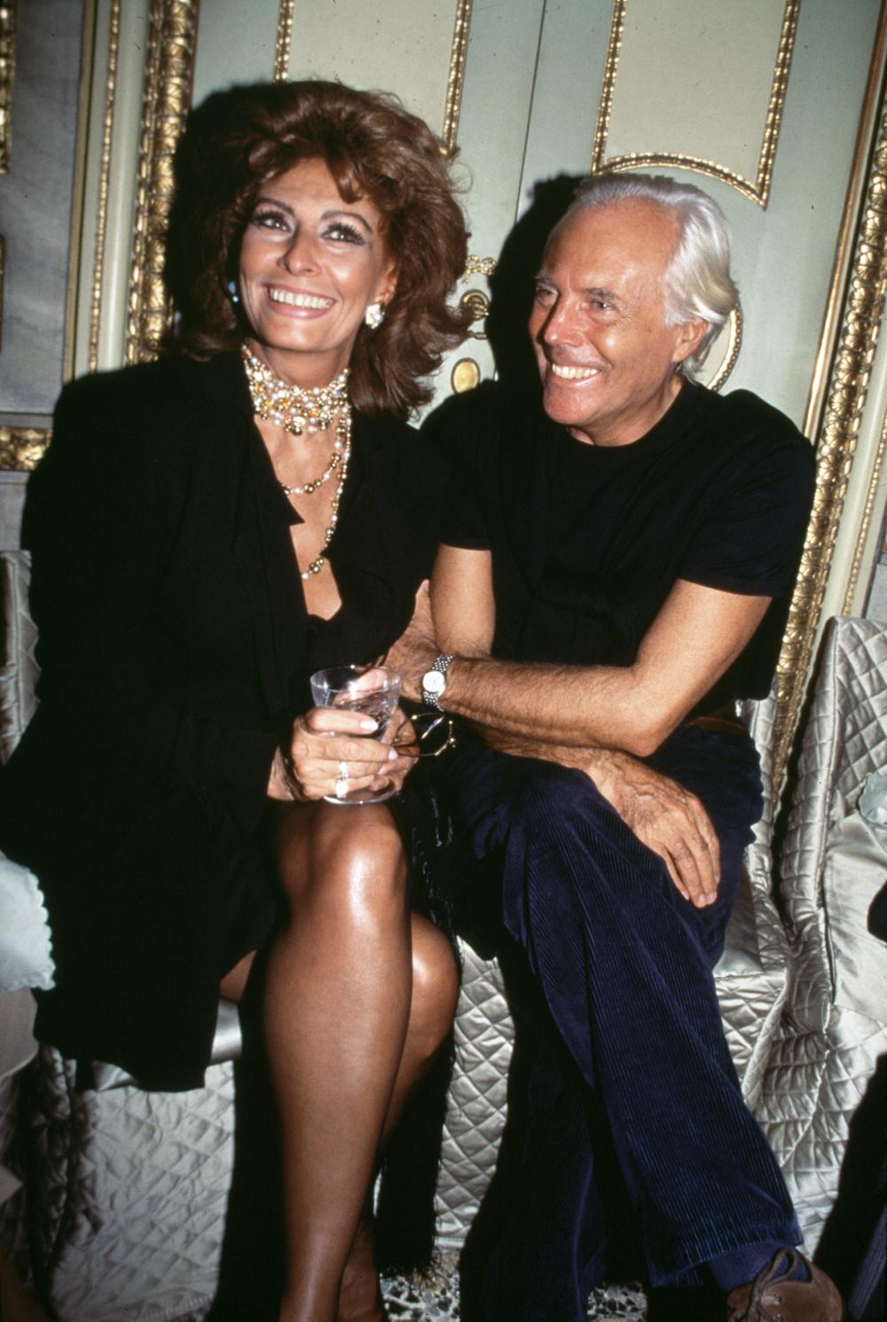 Sophia Loren and Giorgio Armani