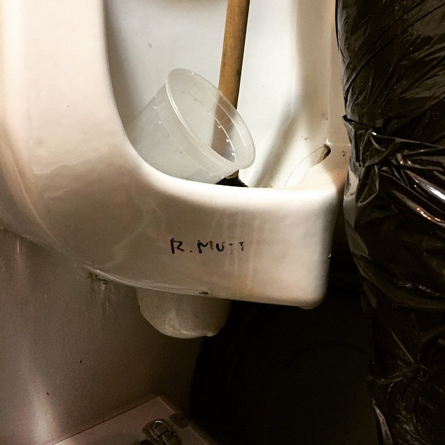 Duchamp seems to be getting more prolific as of late. Spotted this yesterday in NYC.