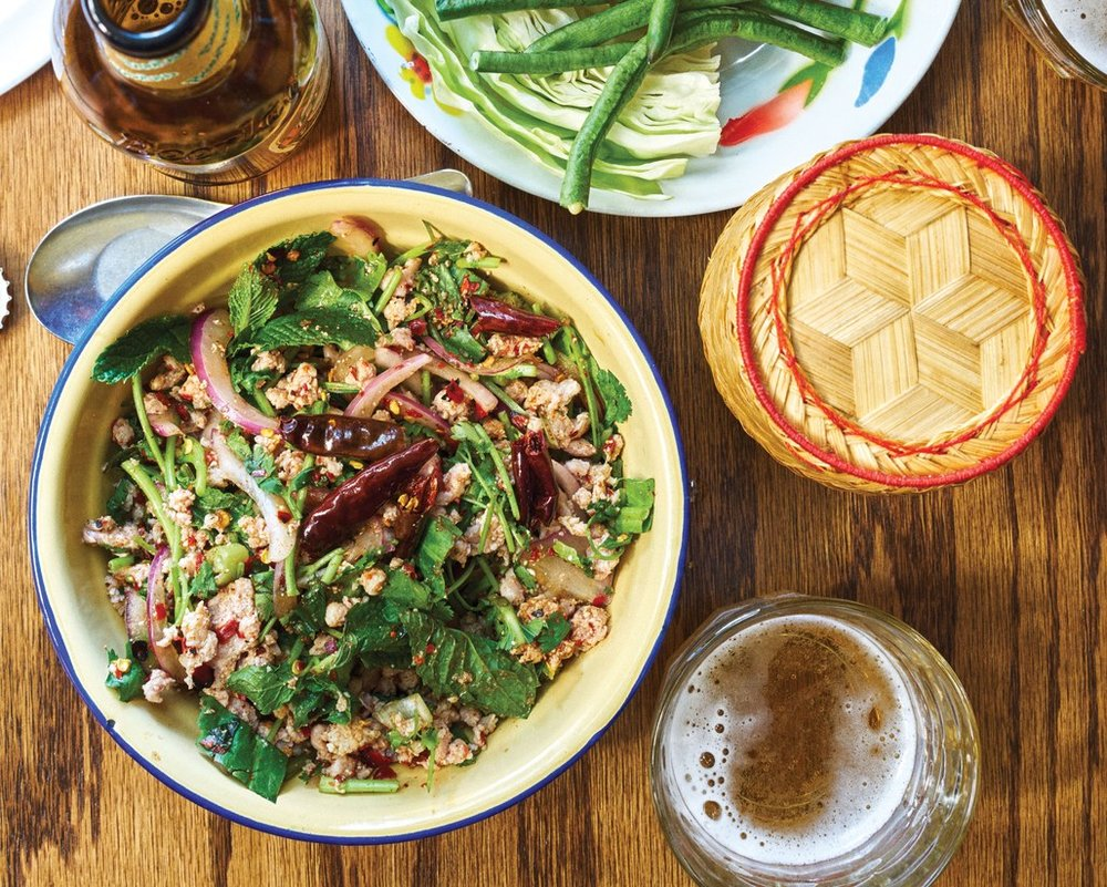 chicken larb cook book