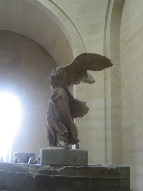 Knowledge of Self gives you wings! Nike, Greek goddess of victory. #LouvreParis