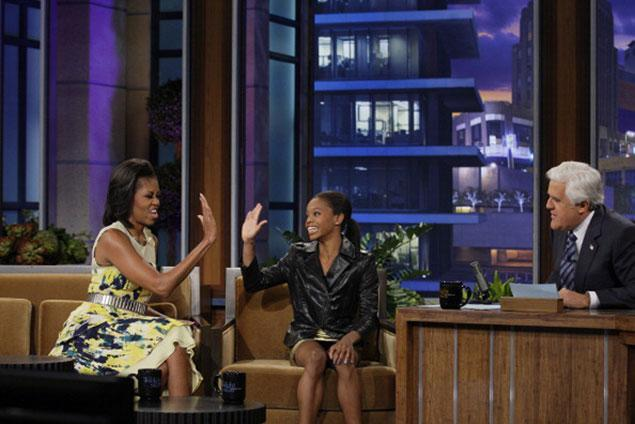 high five! #flotus #gabbydouglas #blackgirlsrock