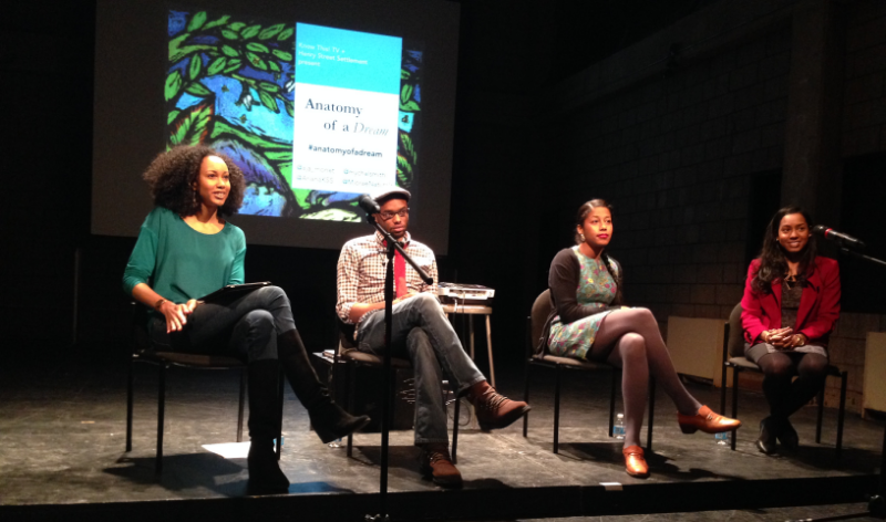 Anatomy of a Dream Panel in NYC featuring poet Aja Monet, writer Mychal Denzel Smith + entrepreneur Beth Meah.