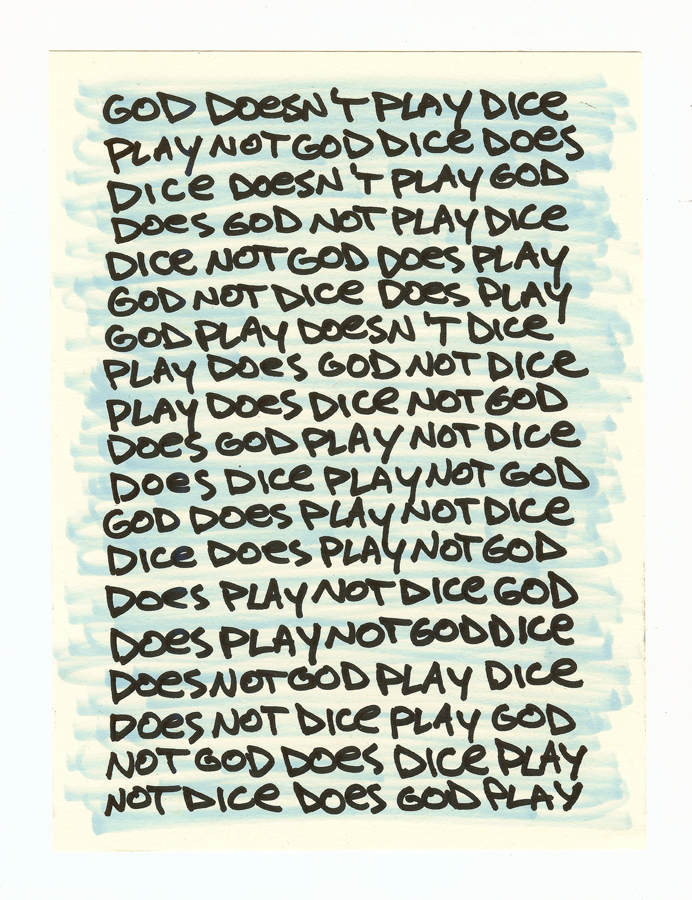 God doesn't play dice 302