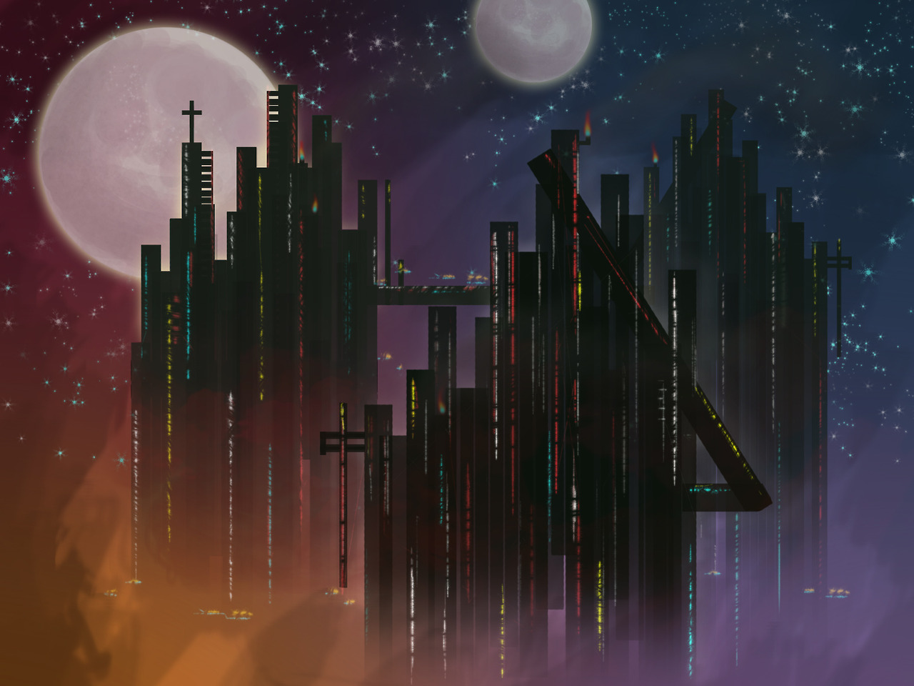 Industrial Sci-fi Concept.