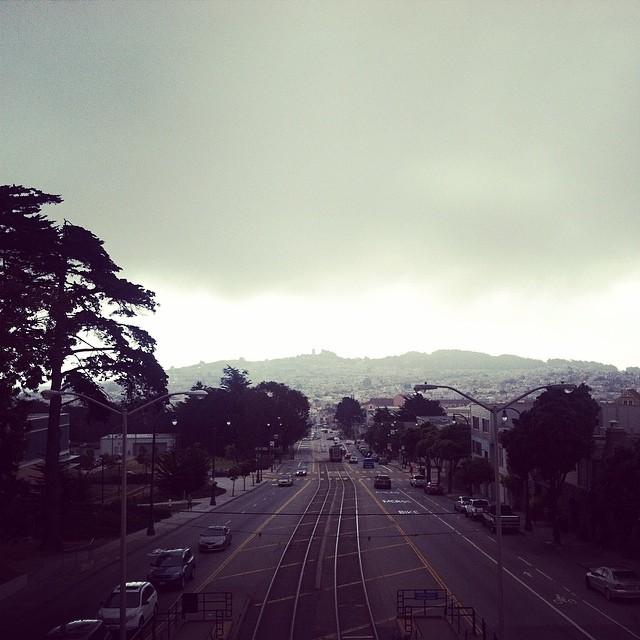 View from sky bridge. CCSF ocean campus.