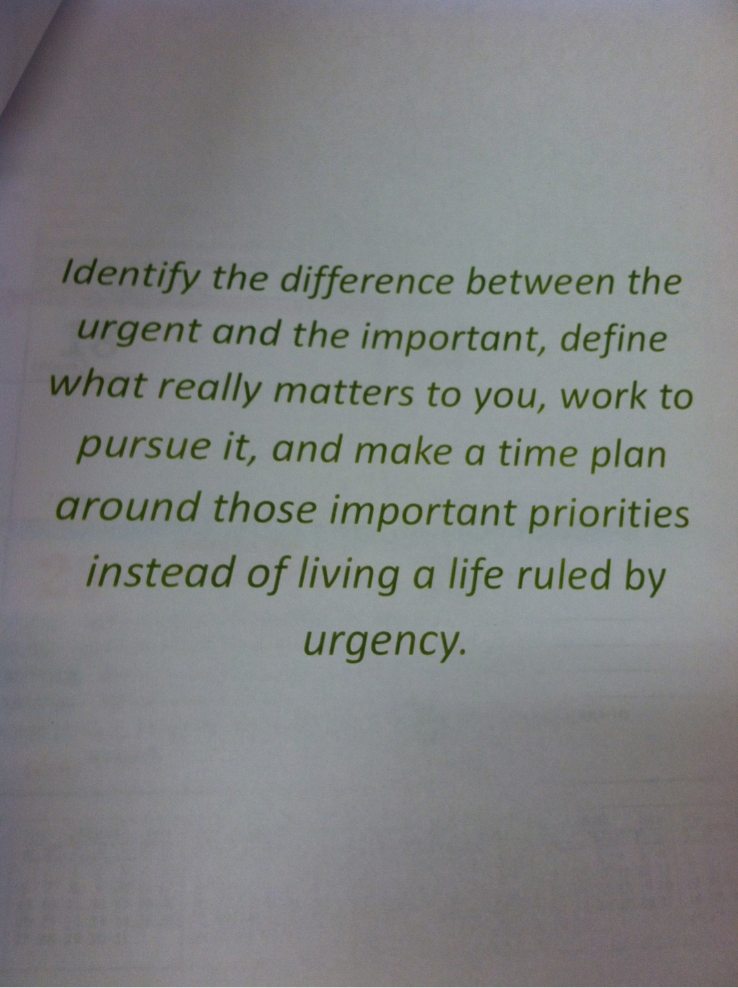 Urgency and importance are different. (via Swank AV learning center)