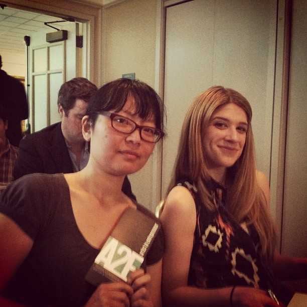 Jen and Amy at the San Francisco International Film Festival A2E event.