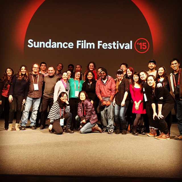 #Advantageous #sundance 2015 screening at the Eccles Theatre! VFX crew in the house! Jan 29th