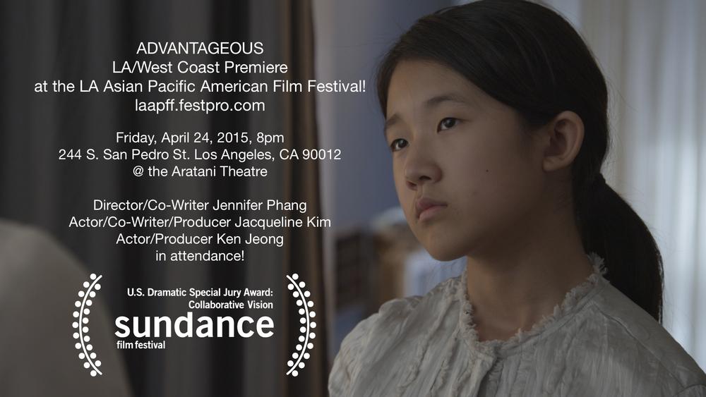 "Introducing Samantha Kim as ""Jules"" in Advantageous."