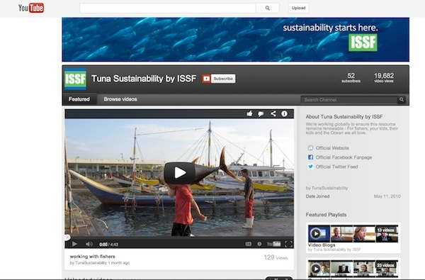 ISSF YouTube page:  youtube.com/user/TunaSustainability