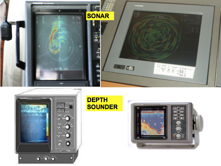 Examples of sonar and depth sounder equipment (Photo: SPC)
