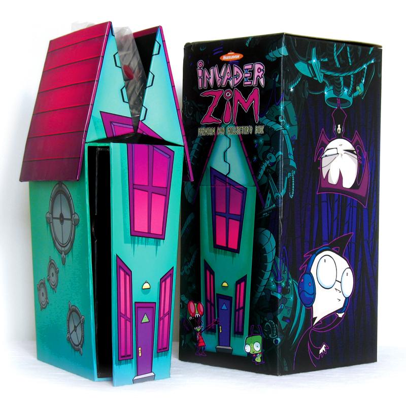 Invader Zim DVD house /w toy