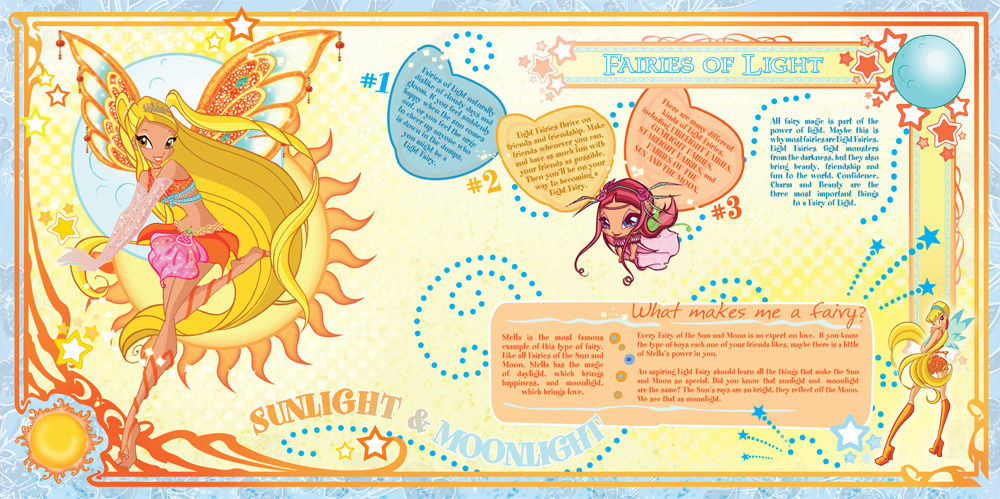 Light fairies Winx role-playing book