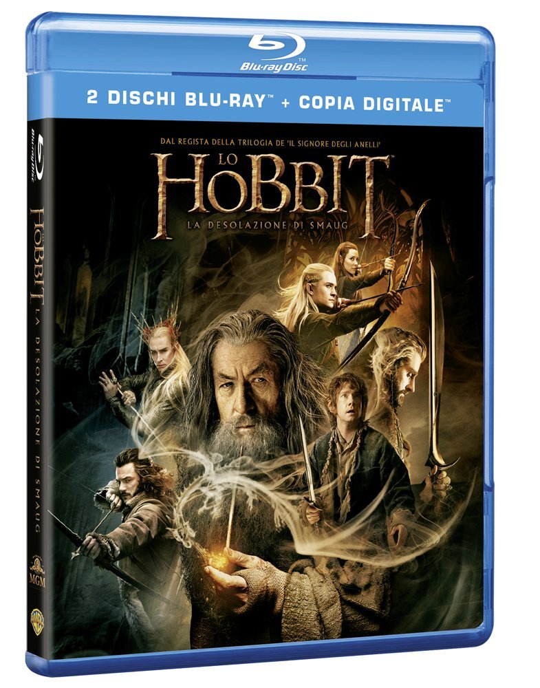 DVD Cover - Lo Hobbit: Desolazione di Smaug - Amazon.it - Warner Brothers (C)