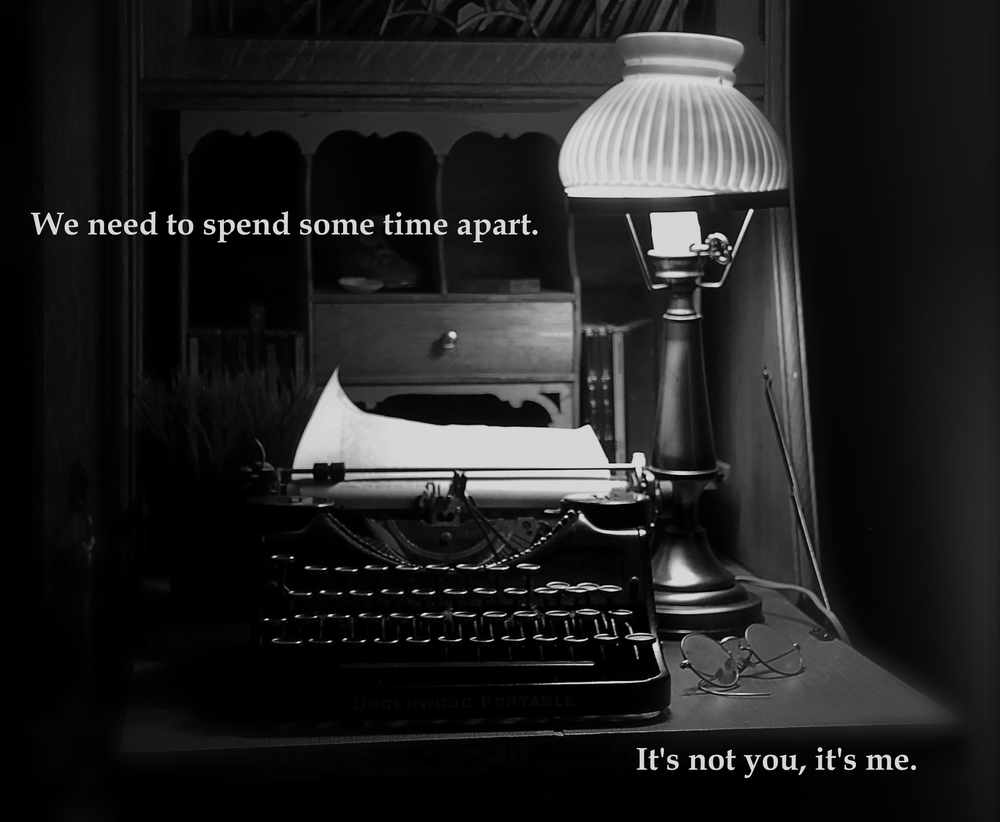 PHOTO CREDIT: Lamp, typewriter, and specs.. | John Levanen | FLICKR CREATIVE COMMONS (BW Filter & Text Added) | ATTRIBUTION LICENSE (C)