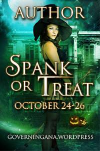 Spank or Treat 2014 is finally here! Visit  Governing Ana  for the prize list, sign-up sheet, and full instructions. You can win from a prize pool valued at over $1,000, including a Kindle Fire or Nook HD, donated by Blushing Books!  Many authors will also offer a contest on their individual blogs.  Your comment on their blogs enters you in both contests!