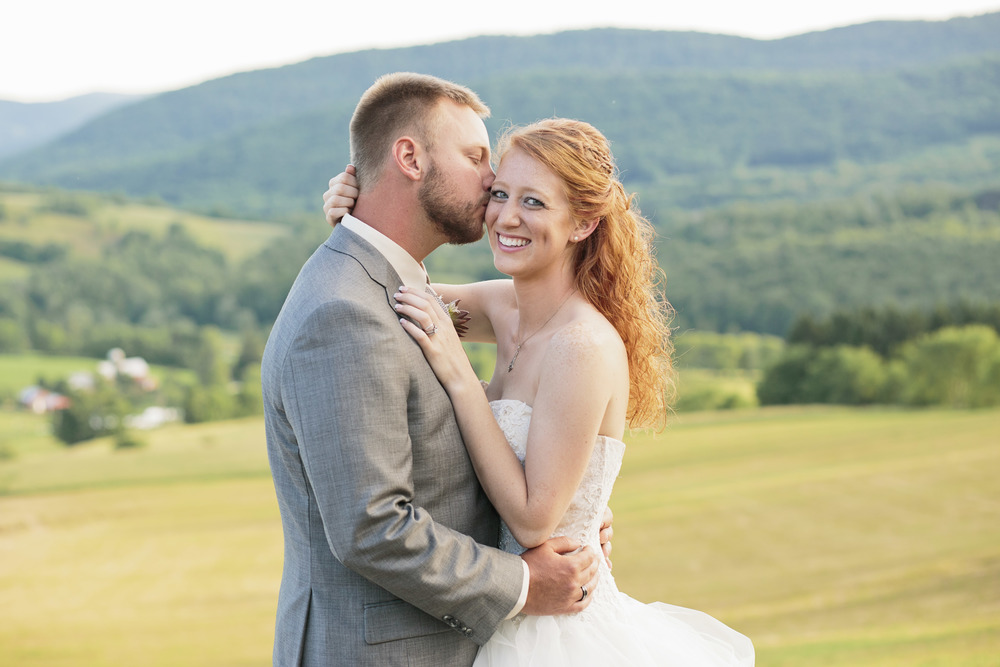 Lauren and Patrick's rustic farm wedding took place in the mountains of beautiful Andes, New York. Photographs by Hudson-Nichols Photography.