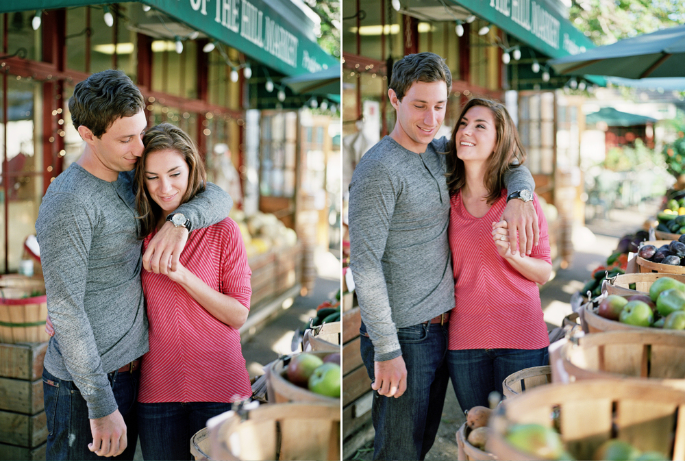 Chris and Christine's Chestnut Hill, Philadelphia engagement photos were shot with Medium format film by Hudson Nichols photography.