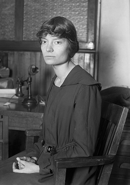 Unknown photographer,  Dorothy Day , 1916; public domain; via Wikimedia Commons