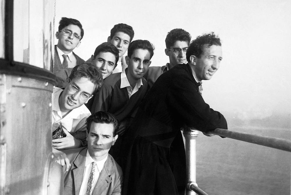 Don Giusanni with his students on a Mediterranean excursion off Portofino  | CL