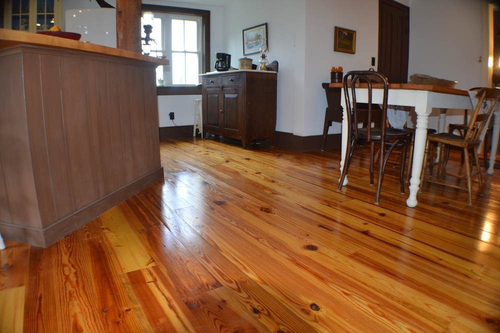 Re Milled Heart Pine Floor