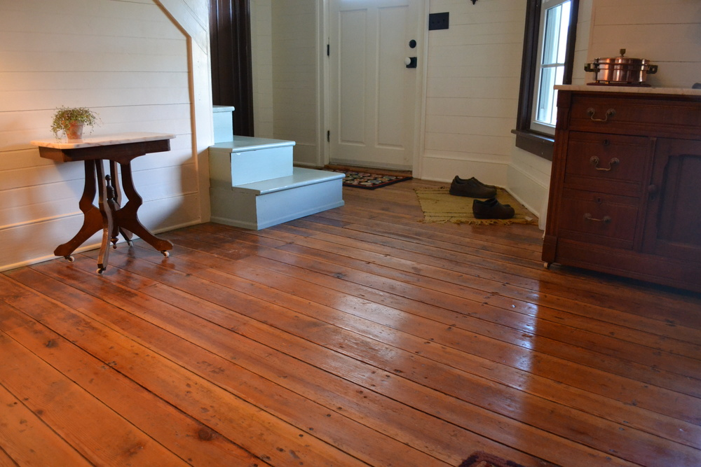 Salvaged Heart Pine Floor Repair