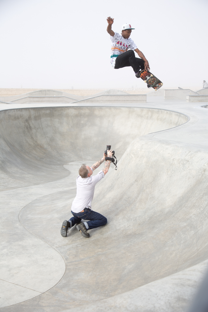 Sean Murphy with skater LeAndre Sanders