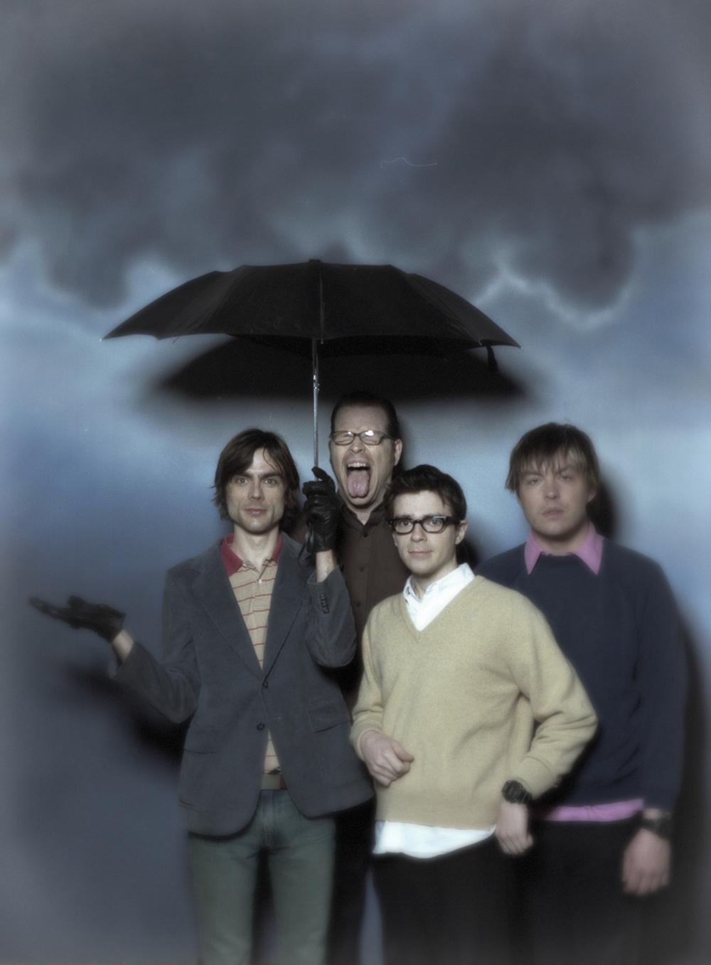 Weezer. Rivers Cuomo, Mikey Welsh, Patrick Wilson, Brian Bell. Photo bySean Murphy