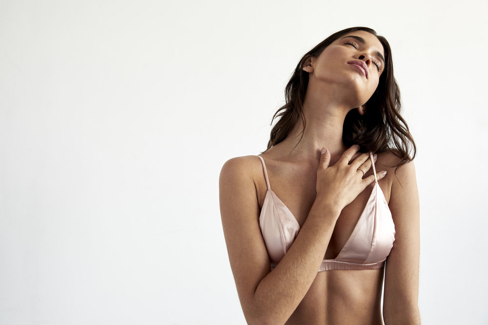 Blush Pure Silk Bra