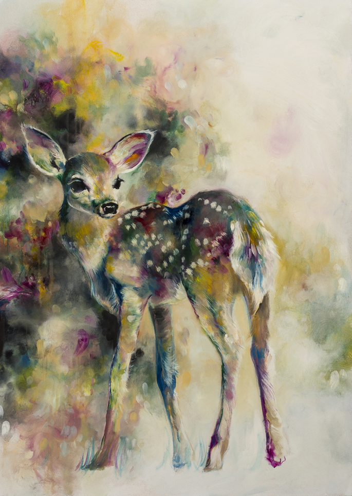 "Doe-Eyed / Original Oil Painting 25x35"" / Limited Edition Prints of 75"