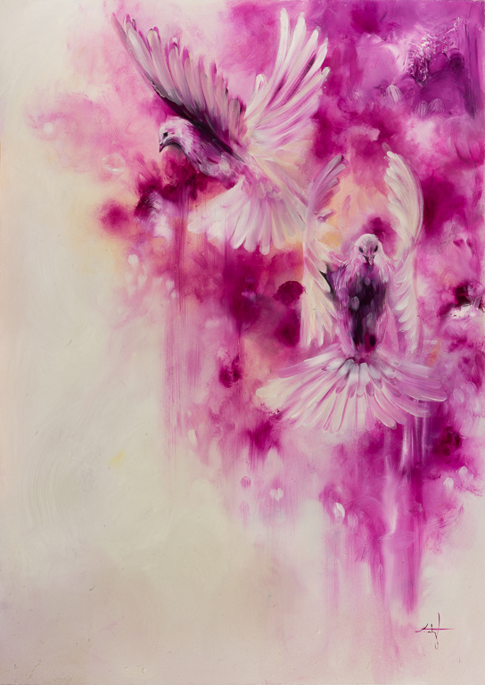Magenta / Original Oil Painting 25x35""
