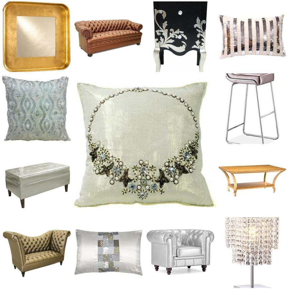 metallics at home