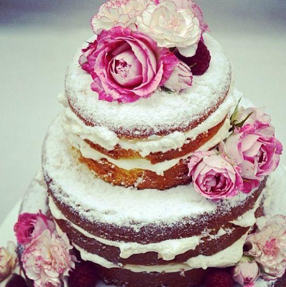 snow rose cake