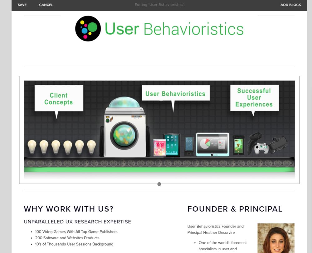 WIP Banner and web design for User Behavioristics