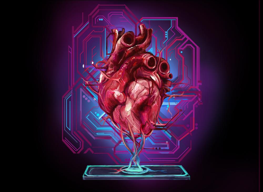 Heart on a Chip Illustration for Viterbi Magazine