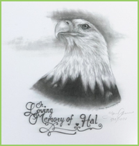 "Commemorative ""In Loving Memory of Hal"" Print"
