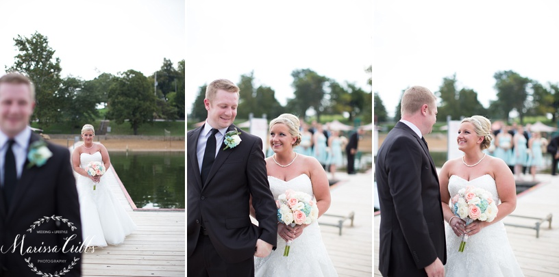 First Look Lake Quivira Country Club Wedding