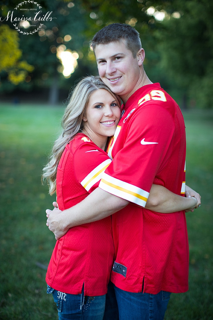 Loose Park Engagement Pictures Kansas City | KC Chiefs