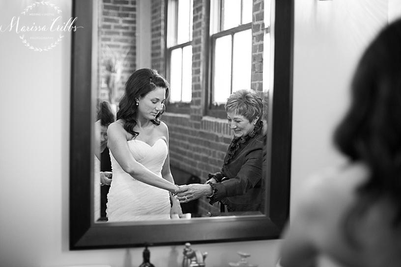 Bride Getting Ready | KC Wedding Photographer | Marissa Cribbs Photography