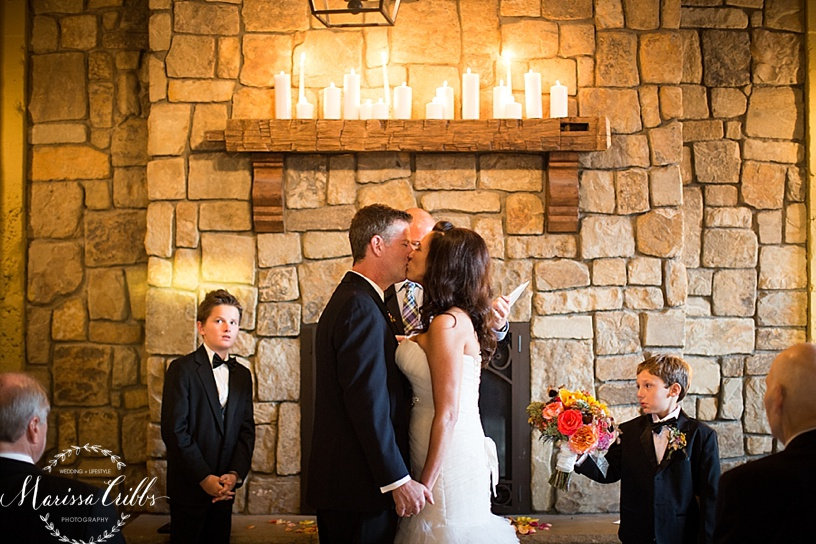 Cellar 222 | Altar | Marissa Cribbs Photography | KC Wedding Photographer | Wedding Ceremony