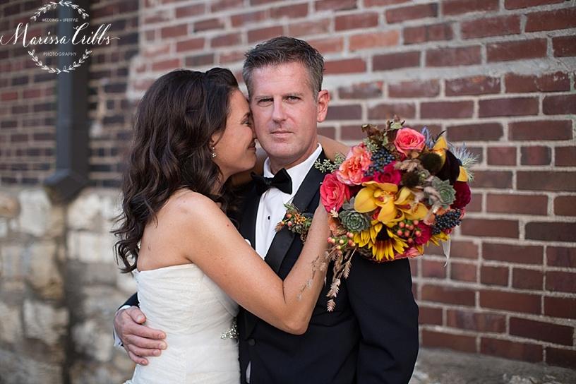 Bride and Groom | Wedding Portraits | Marissa Cribbs Photography | KC Wedding Photography | Cellar 222
