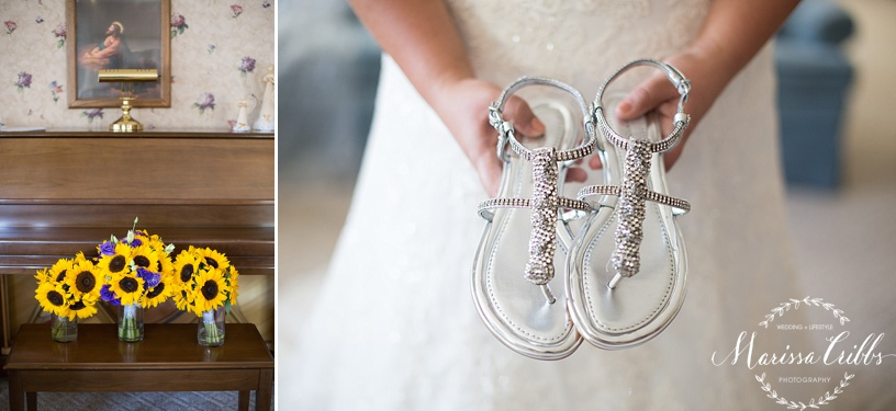 Bridal Bouquets | Wedding Shoes | Bride's Shoes | KC Wedding Photographer | Marissa Cribbs Photography