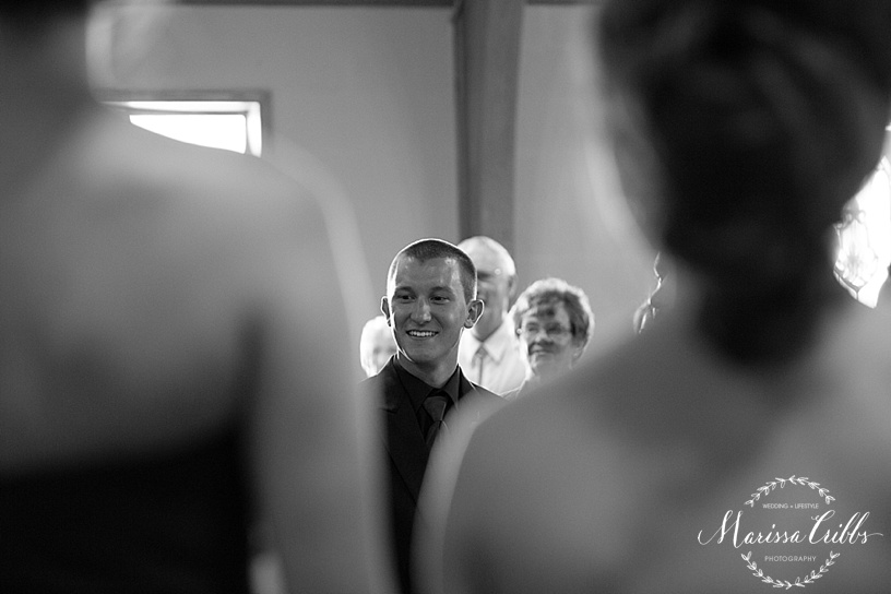 United Methodist Church | Tonganoxie, KS Wedding Ceremony | KC Wedding Photographer | Marissa Cribbs Photography