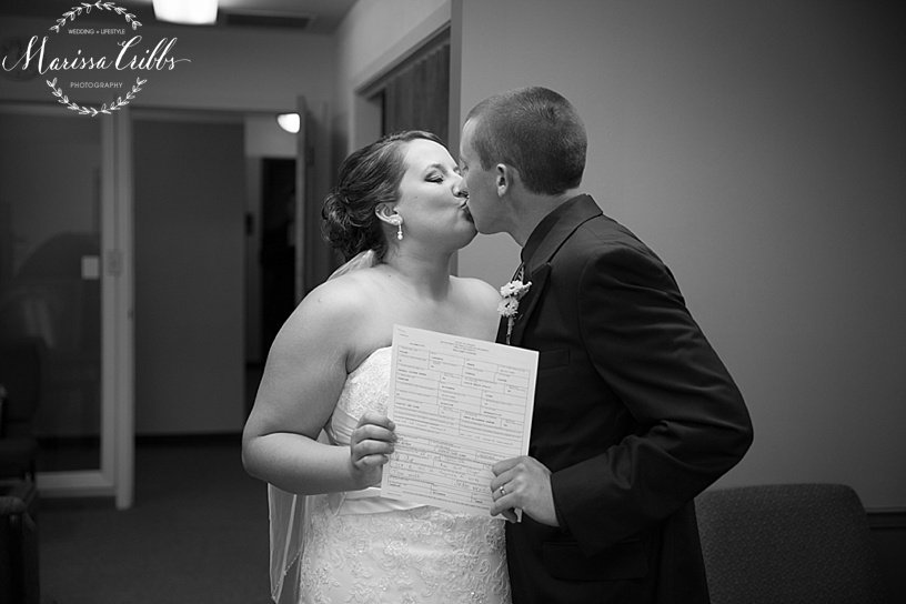 United Methodist Church | Tonganoxie, KS Wedding Ceremony | KC Wedding Photographer | Marissa Cribbs Photography | Marriage License