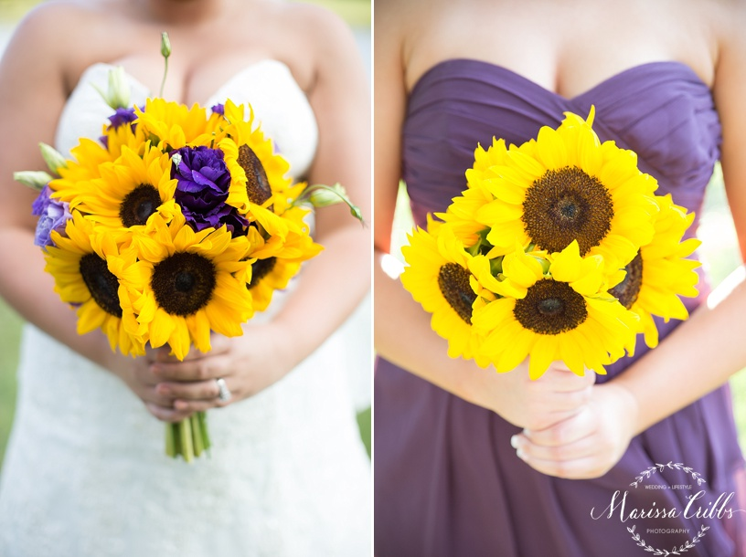 Bridal Party Pictures | KC Wedding Photographer | Marissa Cribbs Photography | Bridal Flowers