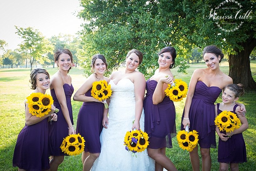 Bridal Party Pictures | KC Wedding Photographer | Marissa Cribbs Photography | Bridesmaids