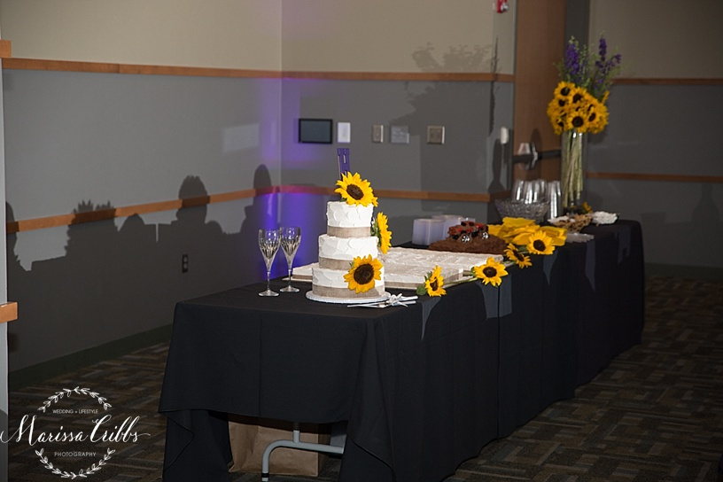 Ball Conference Center | KC Wedding Photographer | Wedding Reception | Marissa Cribbs Photography | Cake Table
