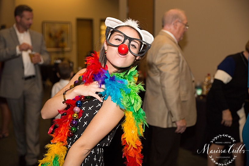 Ball Conference Center | KC Wedding Photographer | Wedding Reception | Marissa Cribbs Photography | Photo Booth