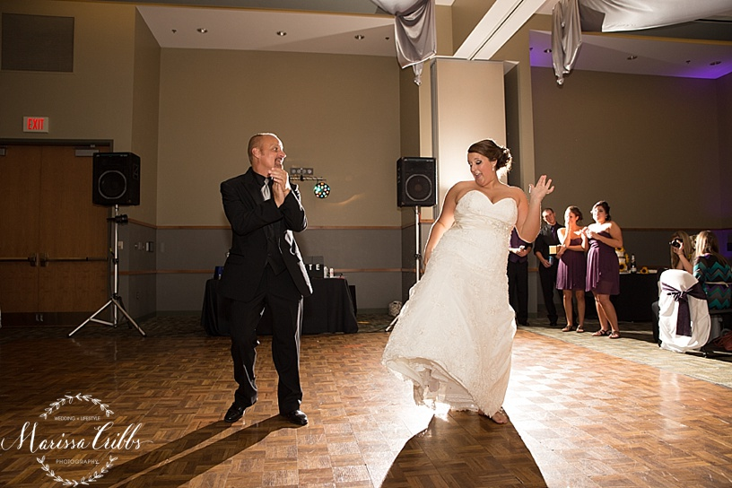 Ball Conference Center | KC Wedding Photographer | Wedding Reception | Marissa Cribbs Photography | Father / Daughter Dance